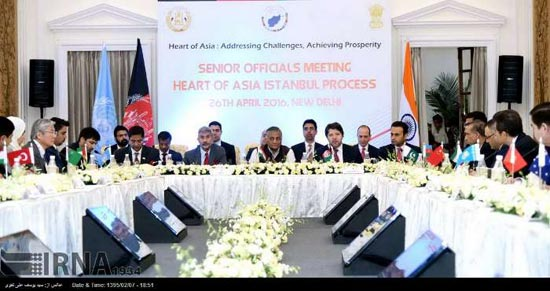 Dr. Bandani's presence as the representative of the Ministry of Science, Research and Technology at Senior Officials Meeting Heart of Asia-Istanbul Process, New Delhi conference